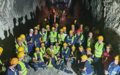 Headrace tunnel for HPP Dabar: Breakthrough between the excavation points 3 and 4 achieved
