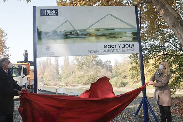 Bridge over the Vrbas River in Banja Luka: Ceremonial commencement of works